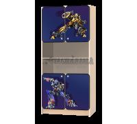 Стеллаж детский «Трансформеры» синий