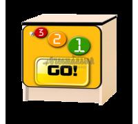 Тумбочка детская «Лого» жёлтый
