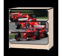 Комод «Формула» красный