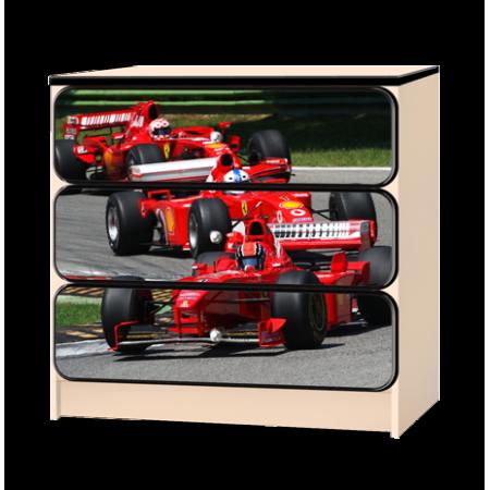 Комод «Формула» красный, Carobus