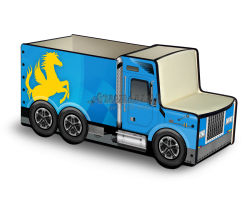 Грузовичок для игрушек «Лого» синий
