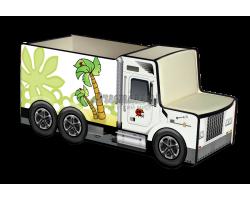 Грузовичок для игрушек «Жирафы» белый