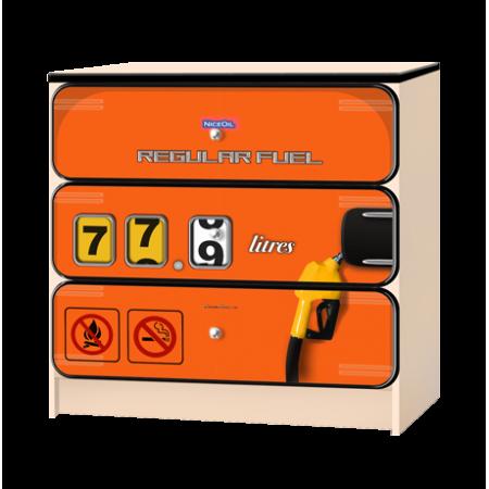 Комод «Бензоколонка» оранжевый, Carobus