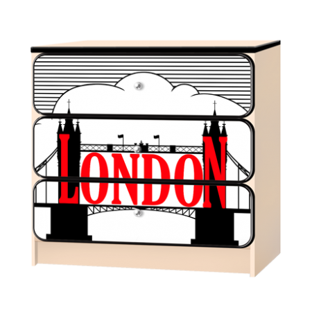 Комод «Лондон» белый, Carobus