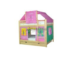 Кровать детская игровая двухъярусная Скворушка-4