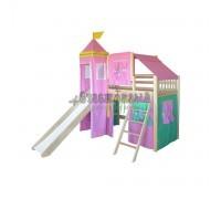 Розовая Кровать чердак Рыцарь - 2