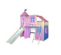 Детская кровать чердак для девочки Рыцарь-3