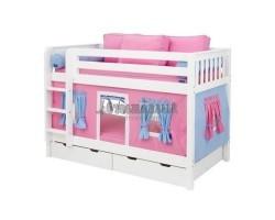 Кровать детская игровая двухъярусная Мальвина