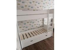 Детская двухъярусная кровать с выкатными ящиками
