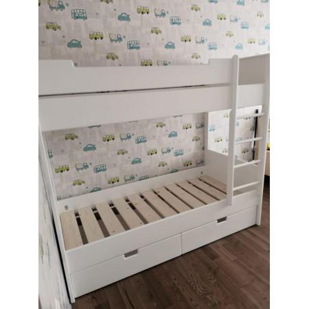 Детская двухъярусная кровать с выкатными ящиками, Bambini Letto
