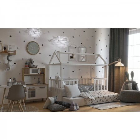 Кровать - домик Мечтатель с бортиком, Bambini Letto