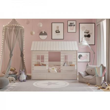 Кровать - домик низкий Теремок, Bambini Letto
