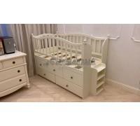 Детская кровать с ящиками и лесенкой