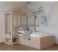 Кровать домик низкая