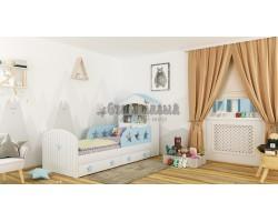 Детская кровать домик «Звёзды»
