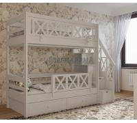 Кровать в стиле прованс с открываемой панелью