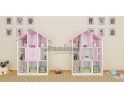 Детский стеллаж домик «Сердечко»
