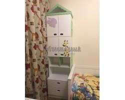 Детский стеллаж домик с ящиками
