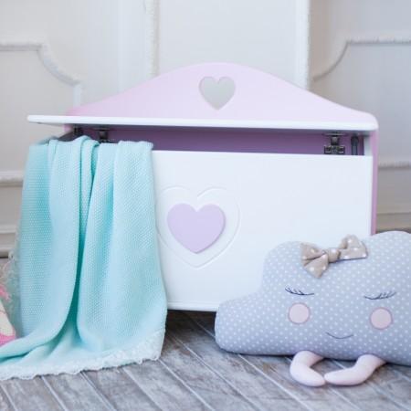 Ящик для игрушек «Сердечко» , Bambini Letto