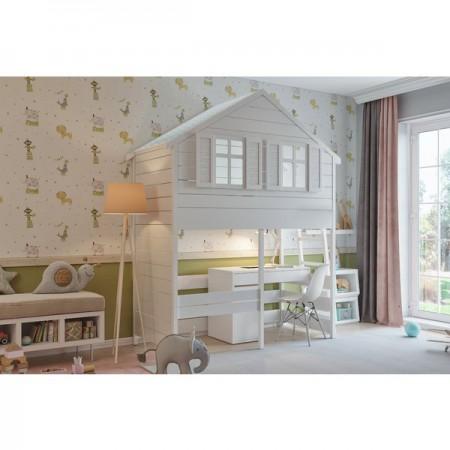 Кровать - домик Сказка с рабочей зоной, Bambini Letto