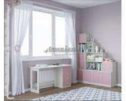 Детский письменный стол и стеллаж