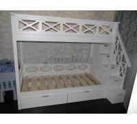 Двухъярусная кровать в стиле прованс