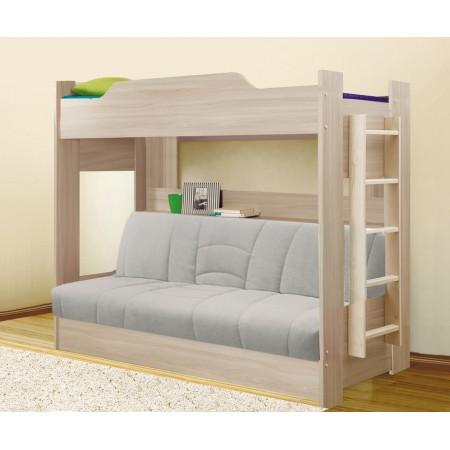 Кровать двухъярусная с диван-кроватью , Боровичи-Мебель
