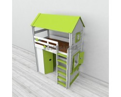 Кровать-чердак детская игровая кровать Домик 7