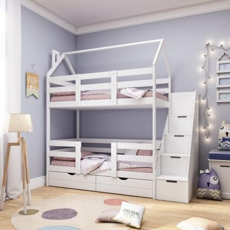 Двухъярусная кровать - домик Classic 160 х 80 с комодом, Dreams Store