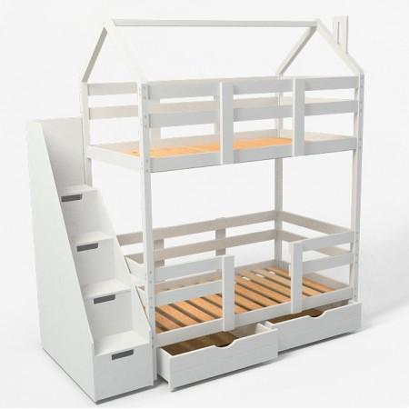 Двухъярусная кровать - домик Classic 180 х 90 с комодом, Dreams Store