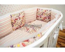 Комплект детского белья Единорожки в розовом