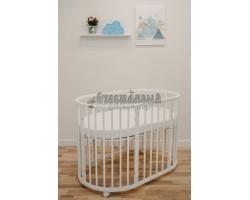 Кроватка-трансформер детская Dreams Бук Премиум 8в1 Белая