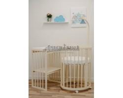 Кроватка-трансформер детская Dreams Бук Премиум 8в1 Слоновая кость