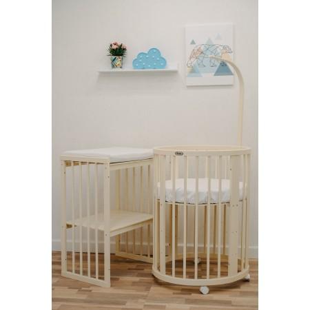 Кроватка-трансформер детская Dreams Бук Премиум 8в1 Слоновая кость, Dreams Store