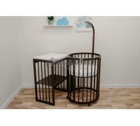 Кроватка-трансформер детская Dreams Бук Премиум 8в1 Венге