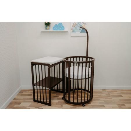 Кроватка-трансформер детская Dreams Бук Премиум 8в1 Венге, Dreams Store