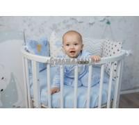 Кроватка трансформер детская Dreams Бук Стандарт 8в1 Белая