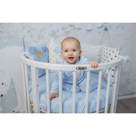 Кроватка трансформер детская Dreams Бук Стандарт 8в1 Белая, Dreams Store