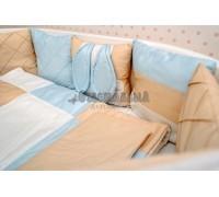 Комплект детского белья Зайка в голубом