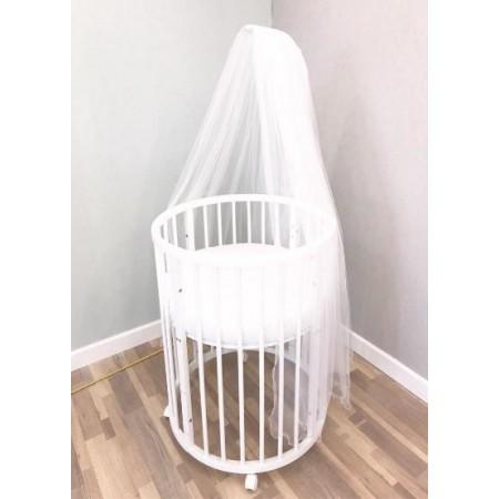 Балдахин для детской кроватки Белый, DreamTex