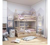 Двухъярусная кровать - домик Classic 160 х 80