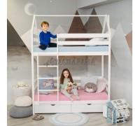 Двухъярусная кровать - домик Classic 180 х 90
