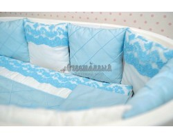 Комплект детского белья Голубое кружево