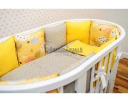 Комплект детского белья Лимонные облачка