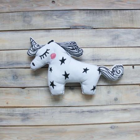 Игрушка-подушка Unicorn Черная, VamVigvam