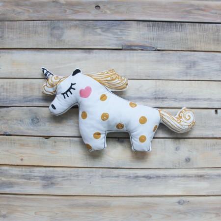 Игрушка-подушка Unicorn Золотая, VamVigvam