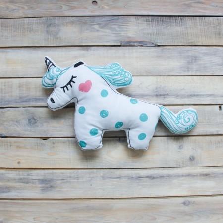 Игрушка-подушка Unicorn Бирюзовая, VamVigvam