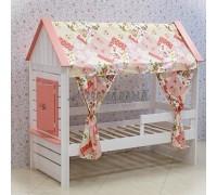 Кровать Домик Нежность Т+ с тканевой крышей
