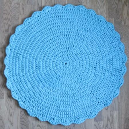 15818, Вязаный коврик Голубой, vv150104, 4990ք, Вязаный коврик Голубой, VamVigvam, Детские ковры