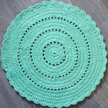 15815, Вязаный коврик Лайм, vv150101, 4990ք, Вязаный коврик Лайм, VamVigvam, Детские ковры